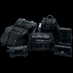 7pc Genuine Buffalo Leather Motorcycle Luggage Set 1
