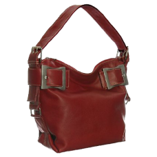 Leather Top Buckled Tote by Vitalio