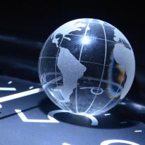 Globe On Clock