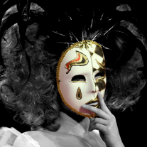 Actress With Mask