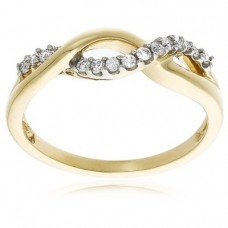 10k Choice of White or Yellow Gold Infinity Twist Ring