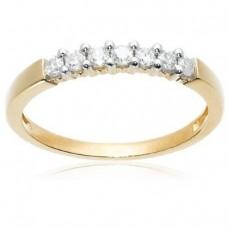 White or Yellow Gold Round 7-Stone Ring