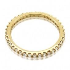 14k Yellow Gold Diamond Eternity Band Ring