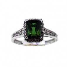 Michael Valitutti 14K Bahia Green Tourmaline & Diamond White Gold Ring