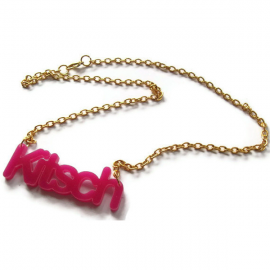Kitsch Necklace, Neon Laser Cut, Choice of