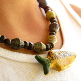 Paper Bead Kids Necklace