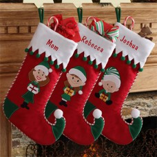 Personalized Elf Family Stocking Collection
