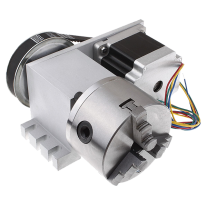 CNC Rotational,the 4th Axis,A Axis for Engraving Machine 100 Three-jaw Chuck