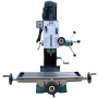 Mill with Dovetail Column, 6 4-5 Cross Travel,22 Compound Travel, 2 Hp Variable Speed Gear Driven No Belt Changes Required, R8 Taper,110 or 220 Setup