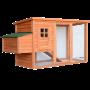 Pawhut 78- Deluxe Wooden Chicken Coop - Hen House w- Backyard Run