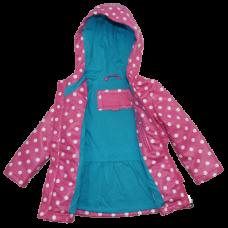 Girl Berry Floral Design Heavyweight Puffer Jacket