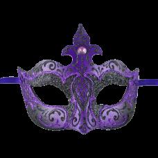 Farfallina Deco Black And Purple Mask