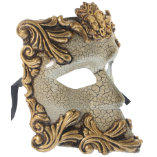 RedSkyTrader Greek God Bauta Mask