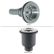 Kraus Stainless Steel Basket Strainer and Strainer Combo