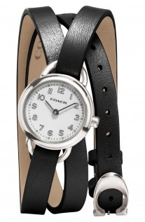 Coach 'Dree' Wrap Leather Strap Watch, 23mm