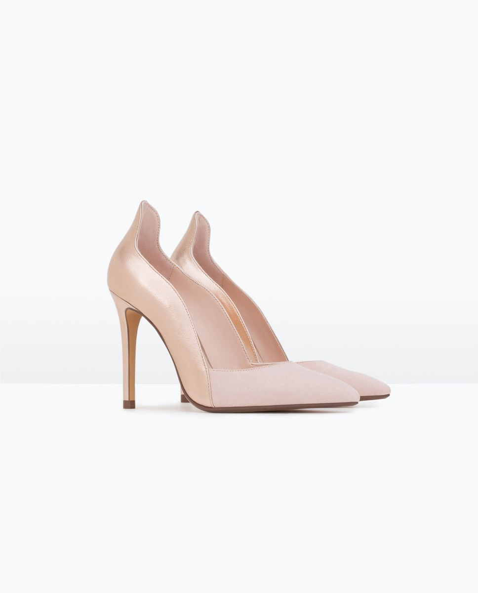 Combined high heel strappy shoe