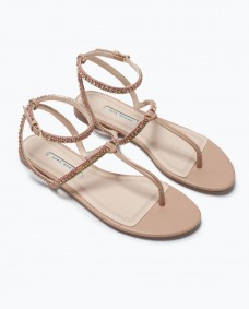 Jewel flat sandal