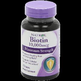 Natrol Biotin 10000 mcg Maximum Strength Tablets 100 Count