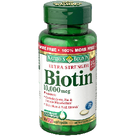 Nature's Bounty Biotin 10000 MCG Softgels 120 Count