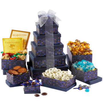 Broadway Basketeers Souring Saphire Gift Tower