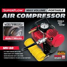 Q Industries MV50 SuperFlow High-Volume 12-Volt Air Compressor