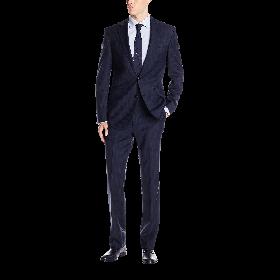 Kenneth Cole New York Men's Stripe 2 Button Notch Lapel Suit