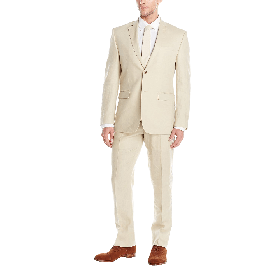 Perry Ellis Men's Two Button Suit with Flat Front Pant