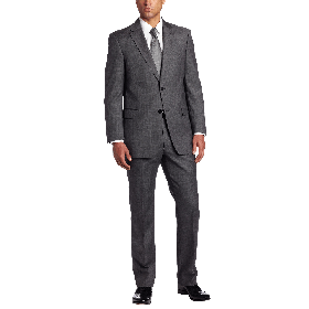 Tommy Hilfiger Men's Nathan Gray Two Button Trim Fit Suit