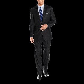 Louis Raphael Men's Classic Fit 2 Button Center Vent Pleated Super 150's Suit