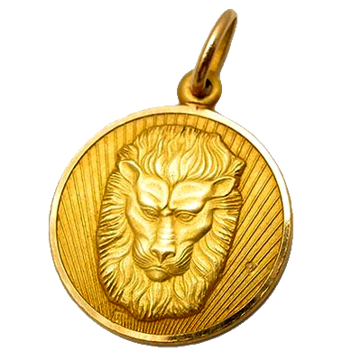 Estate Leo Lion Charm Pendant
