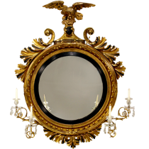 Classical Gilt Wood Girandole Mirror