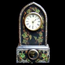 Faux painted mantle clock