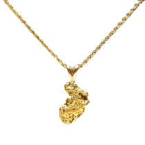 Natural Gold Nugget Charm Pendant