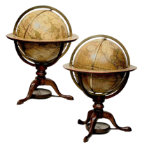 Pair of 12-Inch Globes by Dudley Adams
