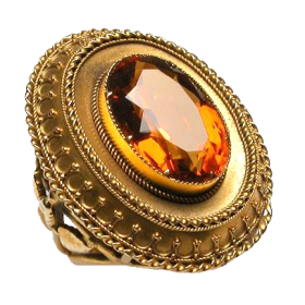Antique Citrine Cocktail Ring