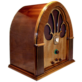 Antique Radio Wood Radio Philco Model 70 Cathedral