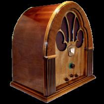Antique Radio Wood Radio Philco Model 70 Cathedral