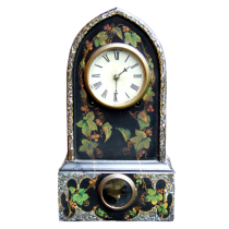 Faux painted mantle clock