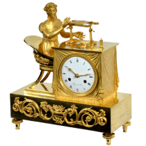 French Empire figural shelf clock
