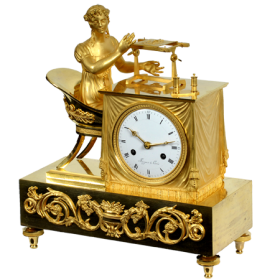 French Empire figural shelf clock