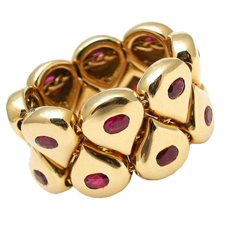 Chaumet Paris Natural Ruby Movable Link Ring