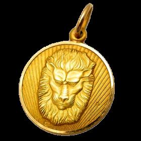 Estate Leo Lion Charm Pendant