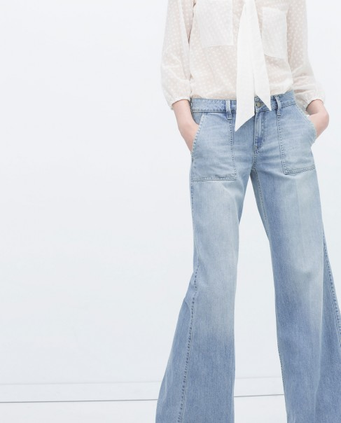 Square pocket jeans