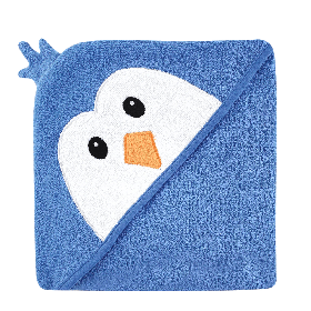 Luvable-Friends-Animal-Face-Hooded-Woven-Terry-Baby-Towel