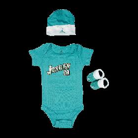 Jordan-Baby-Clothes-3-piece-Set-Teal-Jordan-23--Size-0-6-Months