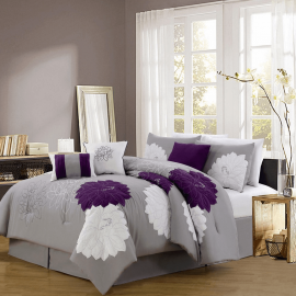 Modern Embroidered Comforter Set