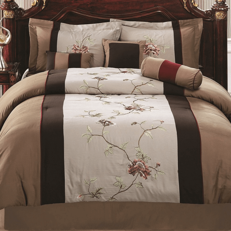 Modern Embroidered Comforter Set