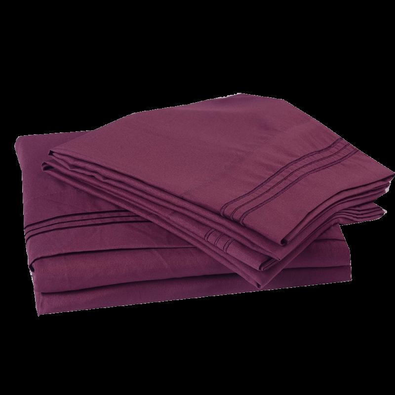 4PC Microfiber Bed Sheet Set