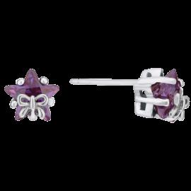 Star-&-Bow-Cubic-Zirconia-Pendant