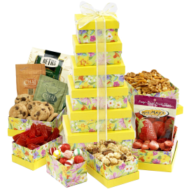 Fresh and Floral Gift Tower